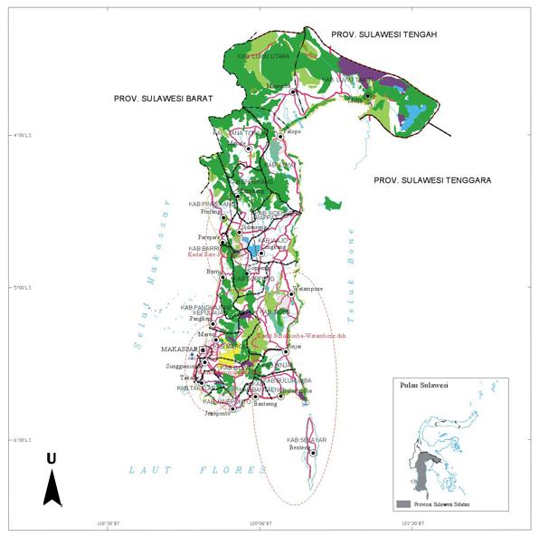 Peta Wilayah Provinsi Sulawesi Selatan