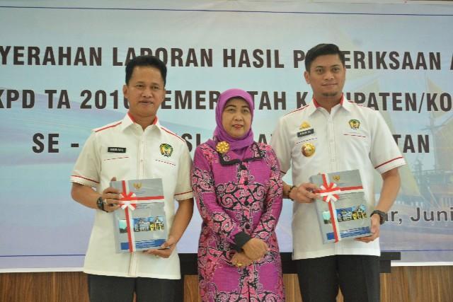 Penyerahan LHP LKPD TA 2016 Kabupaten Gowa